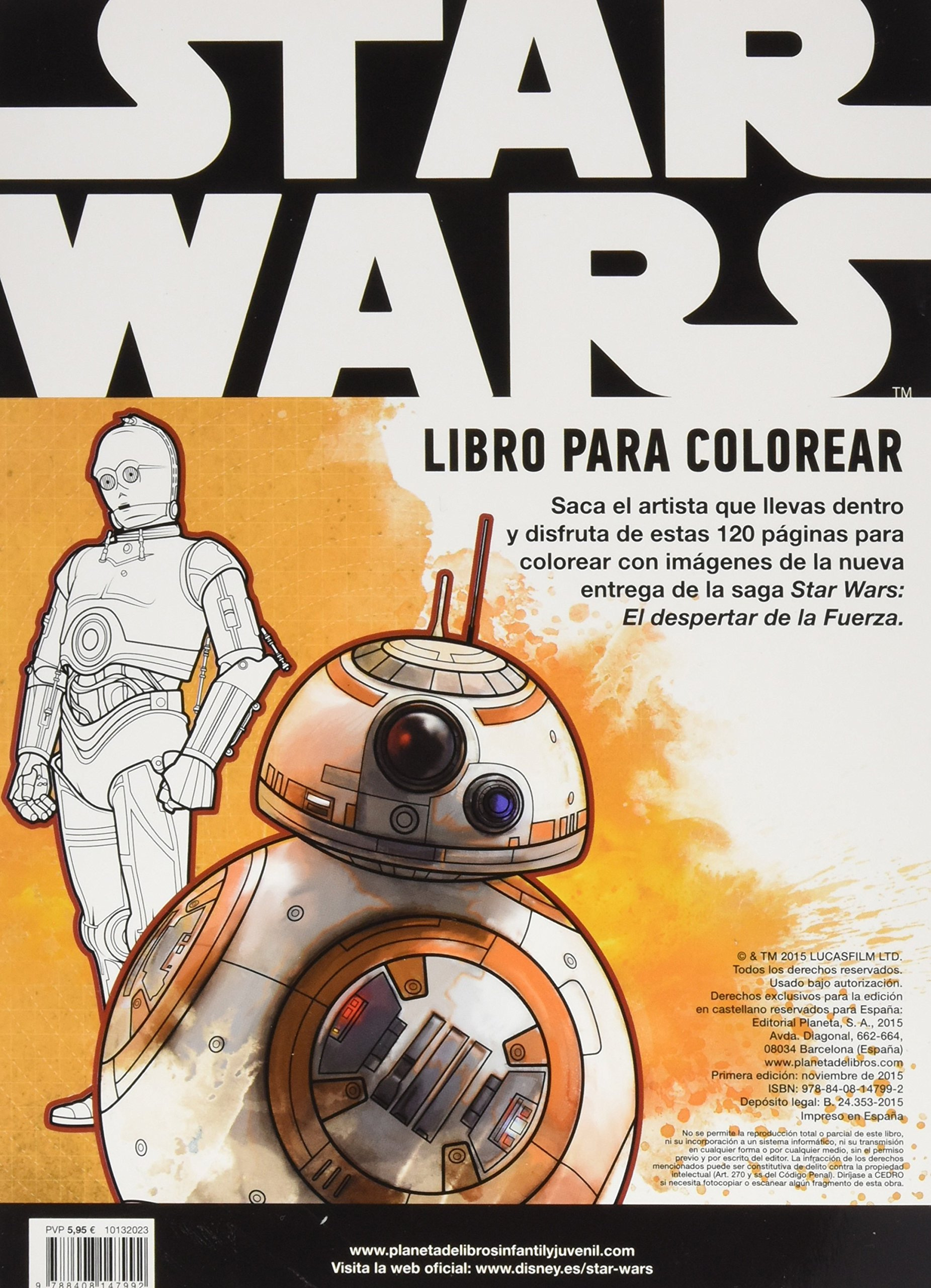 Star Wars. Libro para colorear: El despertar de la Fuerza: Amazon.es ...