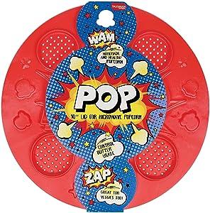 Talisman Designs 00545 Pop Microwave Popcorn Lid, Silicone, Bpa Free, Fda Approved