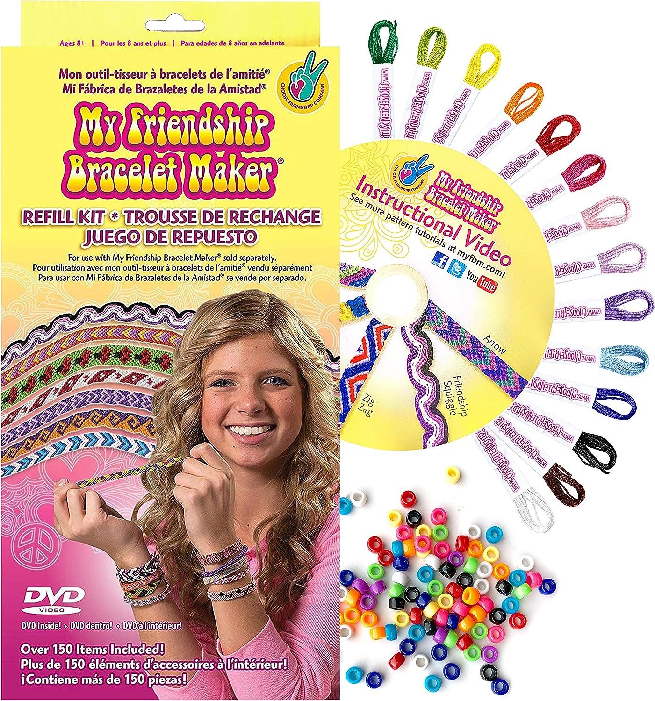 Choose Friendship Kids Jewelry Kit My Friendship Bracelet Refill Kit 150 items Bracelet Craft Kit Jewelry Making Bracelet Kit
