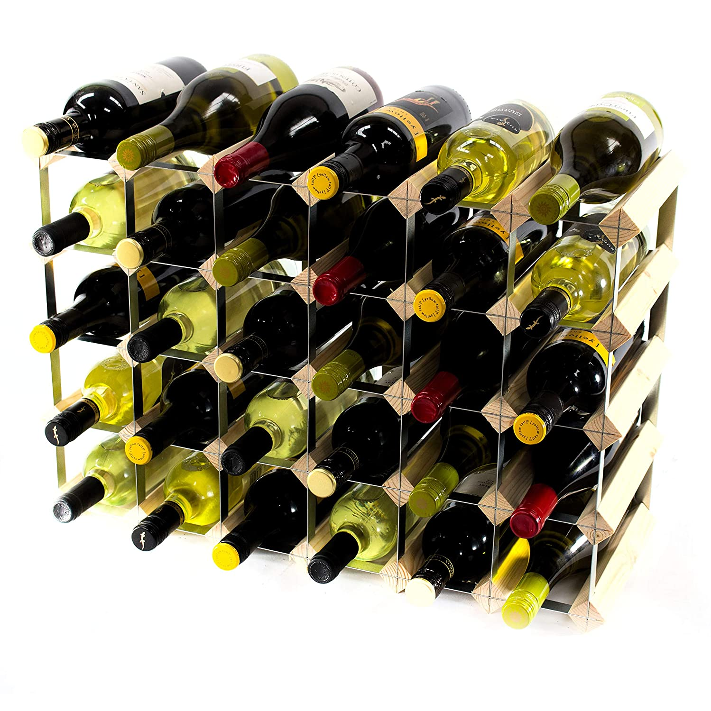 Cranville wine racks Classic 30 (6x4) Flasche Kiefernholz und verzinktem Metall Weinregal fertig montiert