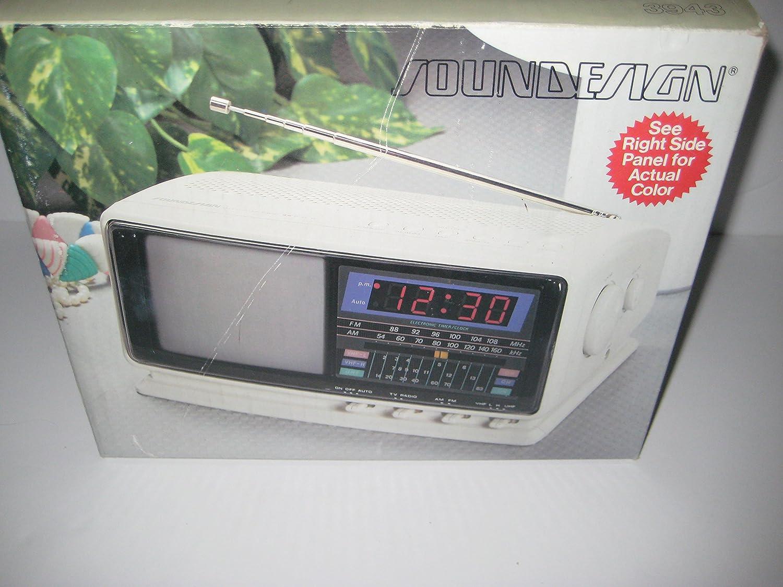 Soundesign 3943ivy - Televisión de 11,4 cm con Radio de Reloj electrónico Am/FM, Modelo # 3943ivy: Amazon.es: Electrónica