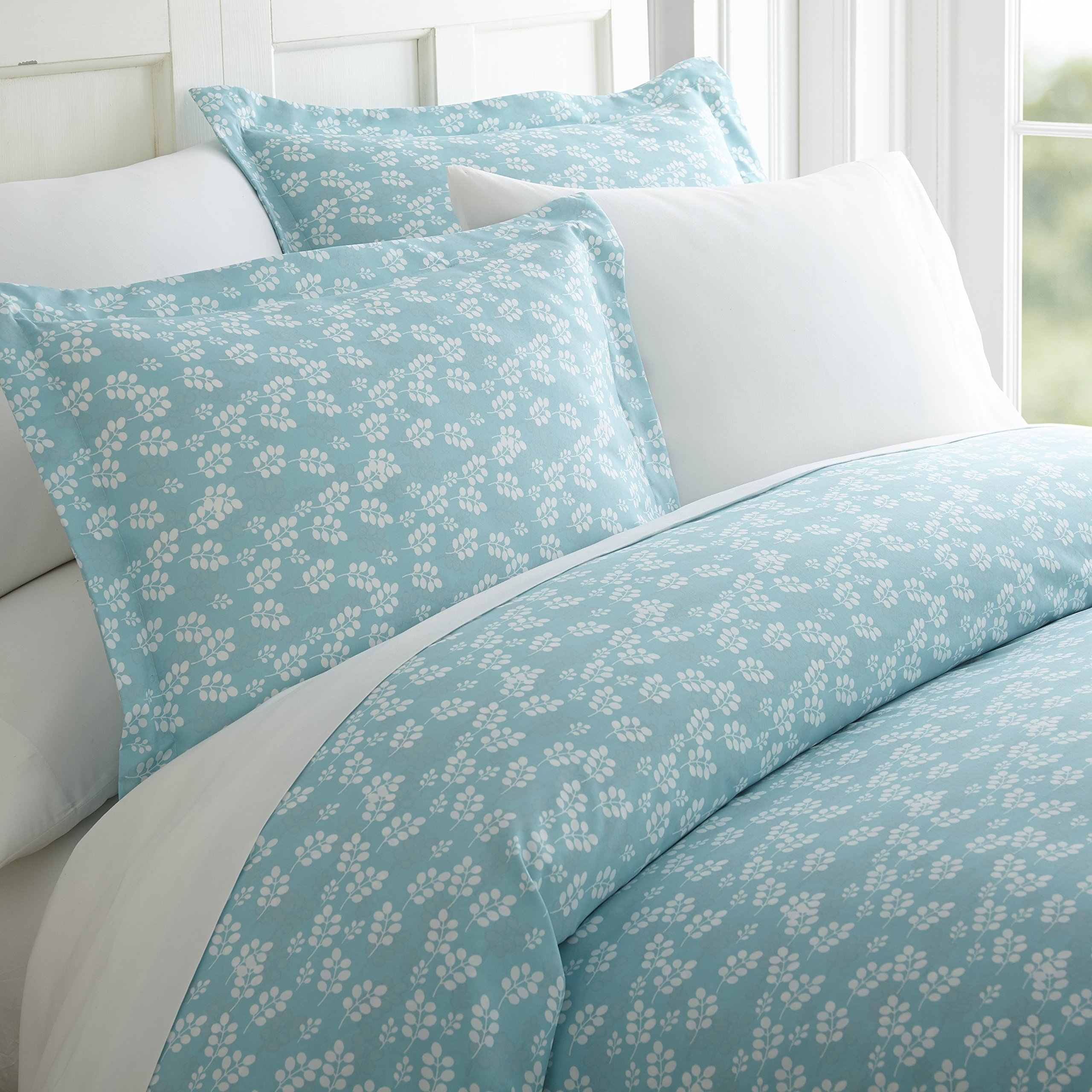 ienjoy Home 3 Piece Wheatfield Patterned Home Collection Premium Ultra Soft Duvet Cover Set, Twin, Pale Blue
