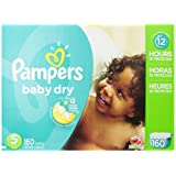 Amazon Price History for:Pampers Baby Dry Diapers Size 5, 160 Count