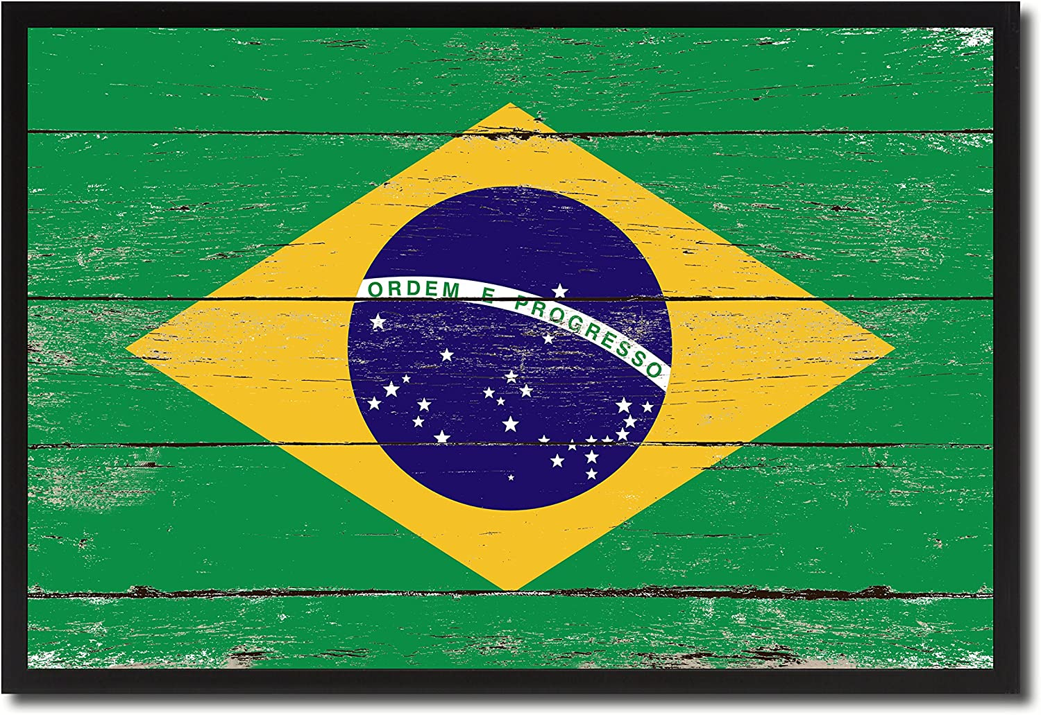 Brazil National Country Flag Shabby Chic Wall Art Home Decor Office Decoration Souvenir Gift Ideas Housewarming 19 X 28 Amazon Co Uk Kitchen Home