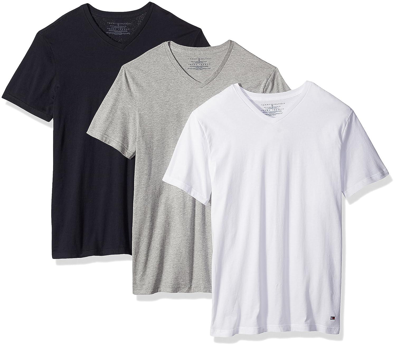 Tommy Hilfiger Mens Undershirts 3 Pack Cotton Classics V-Neck T-Shirt Underwear