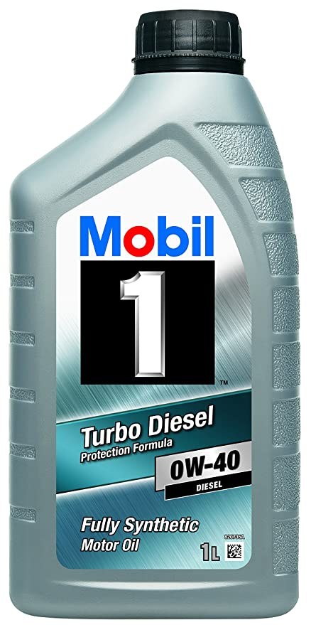 Mobil 1 151040 Turbo Diesel - Aceite sintético de motor diésel (0W-40,