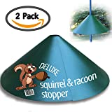"""Deluxe Squirrel-Raccoon Stopper 18""""-""""Extra Slip Coating""""- No Tool Install with our Newest Design - Wrap Around Stopper. Solid Steel (1 Pack) by iPrimio"""