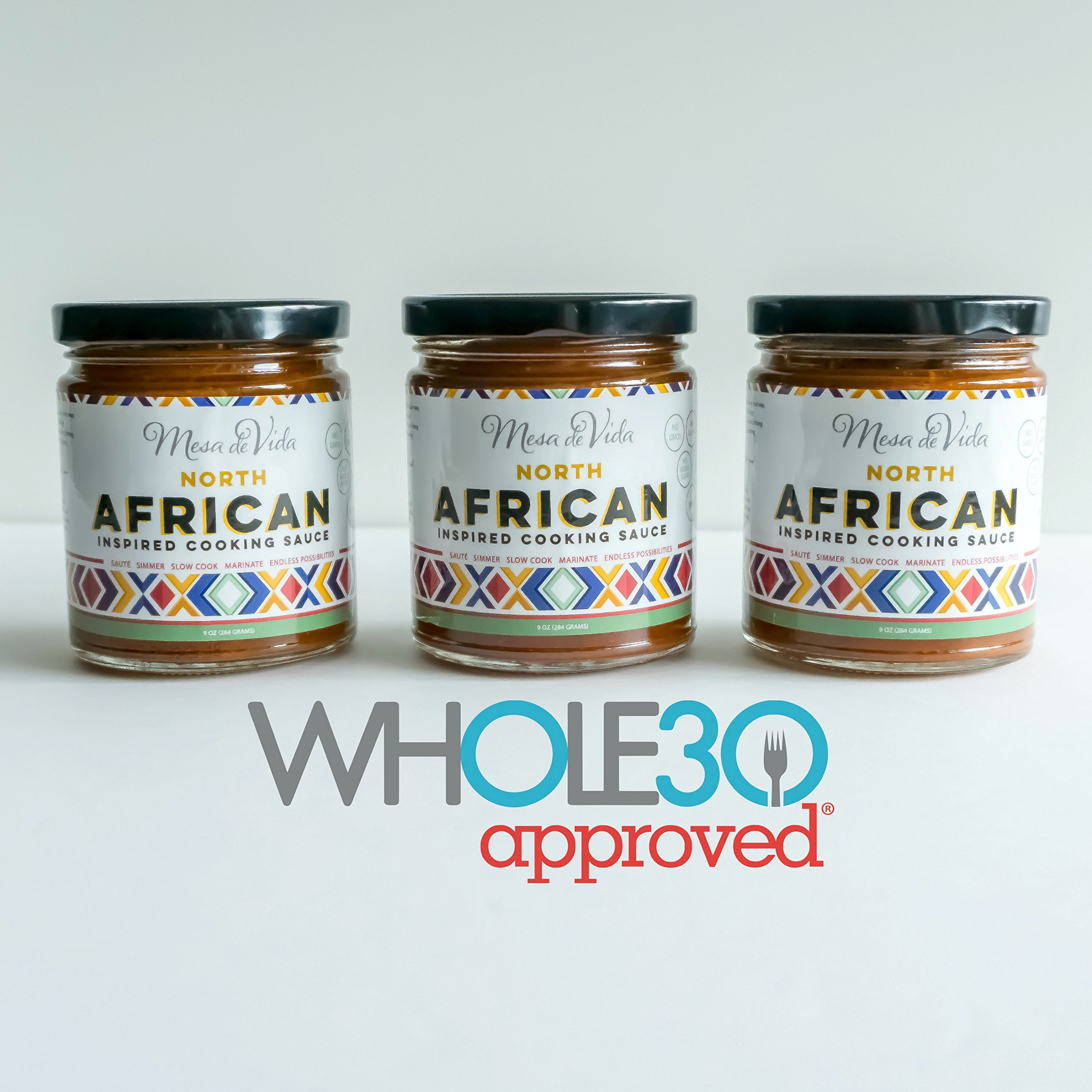 Healthy Global Gourmet Cooking & Seasoning Sauces (North African Cooking Sauce 3 Pack) Whole30