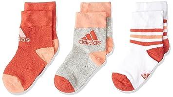 Adidas Cv7155 Calcetines, Unisex niños, Blanco (rojbri/brgrin), 35/