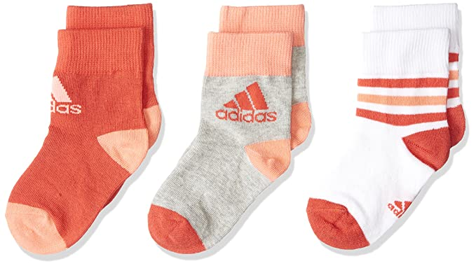 81d629d425 Adidas Kids Girls Ankle Socks 3 Pairs CV7155 New