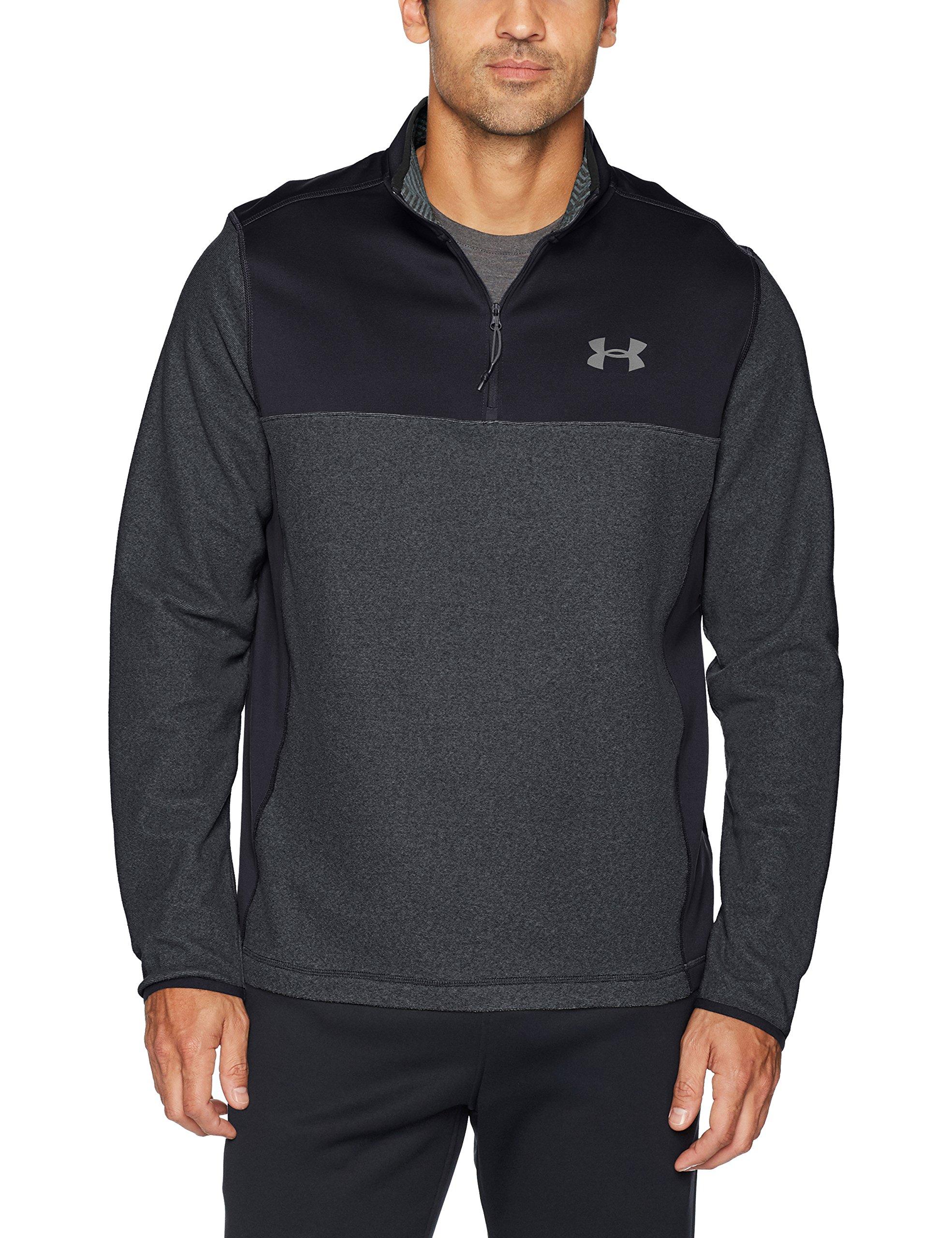 afad5602c3 Under Armour Men's Coldgear Infrared Fleece ¼ Zip Sweat Shirt,Black  (001)/Graphite, XX-Large