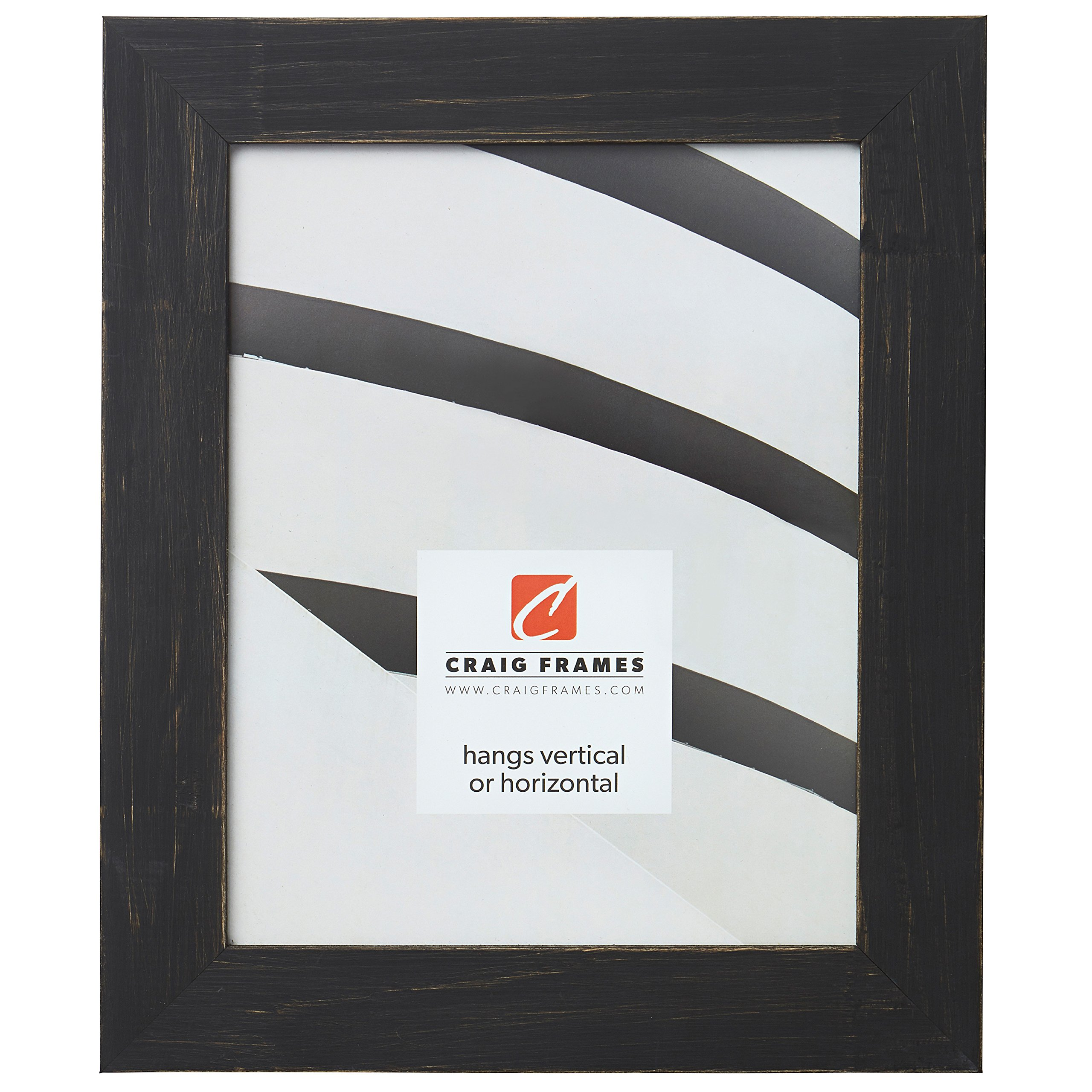 Craig Frames Jasper Picture Frame, 14 x 19 Inch, Country Charcoal Black by Craig Frames