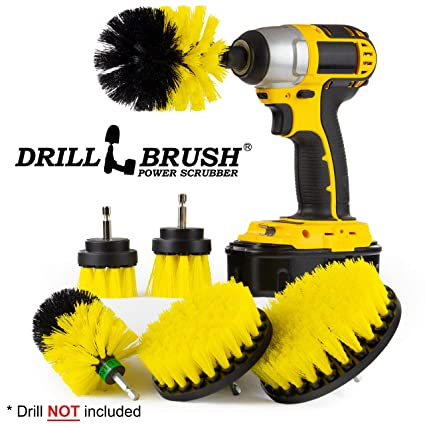 the ultimate bathroom cleaning supplies drill brush attachment kitspin brushpower scrubber - Bathroom Cleaning Supplies