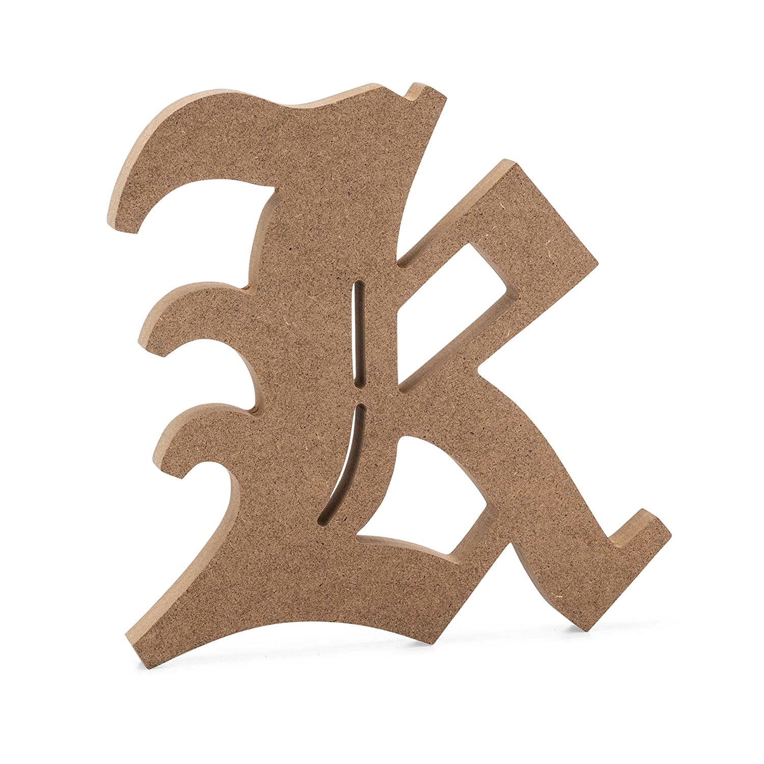 6 inch, C 6 Old English Wooden Letter C JoePauls Crafts Premium MDF Wood Wall Letters