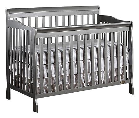 Dream On Me Ashton 5-in-1 Convertible Crib, Storm Grey