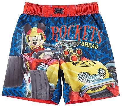 185084d992fee Disney Mickey Mouse Toddler Boys Roadster Racers Swim Trunks 2T Blue Multi
