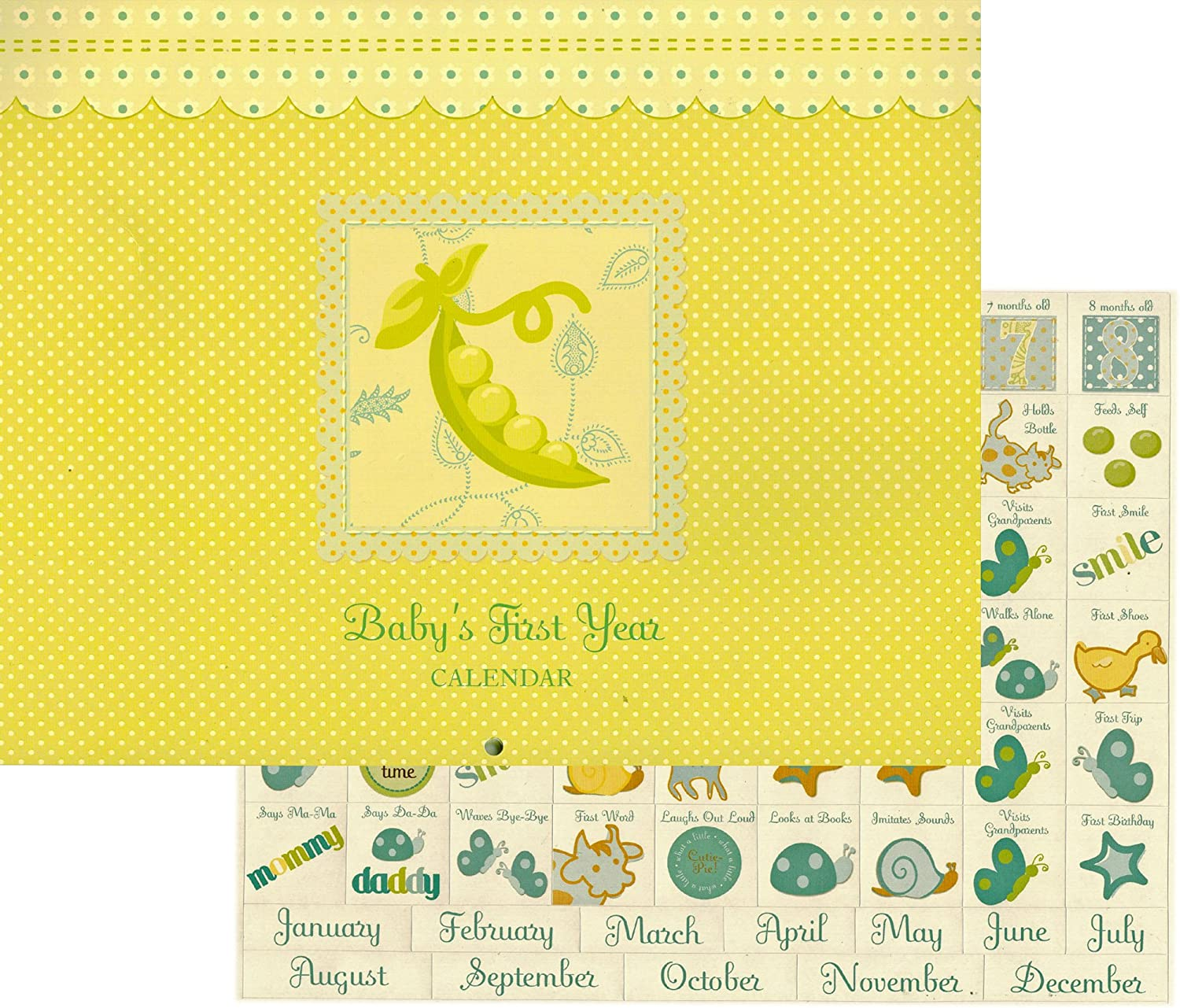 Sweet Pea Baby's 1st Year Calendar Keepsake by C.R. Gibson