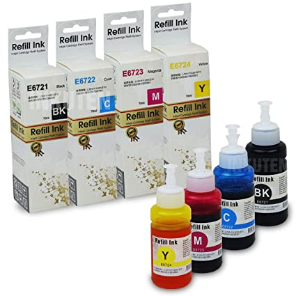 Amazon.com: INKUTEN Set de 4 Botellas Ecotank de 70ml para ...