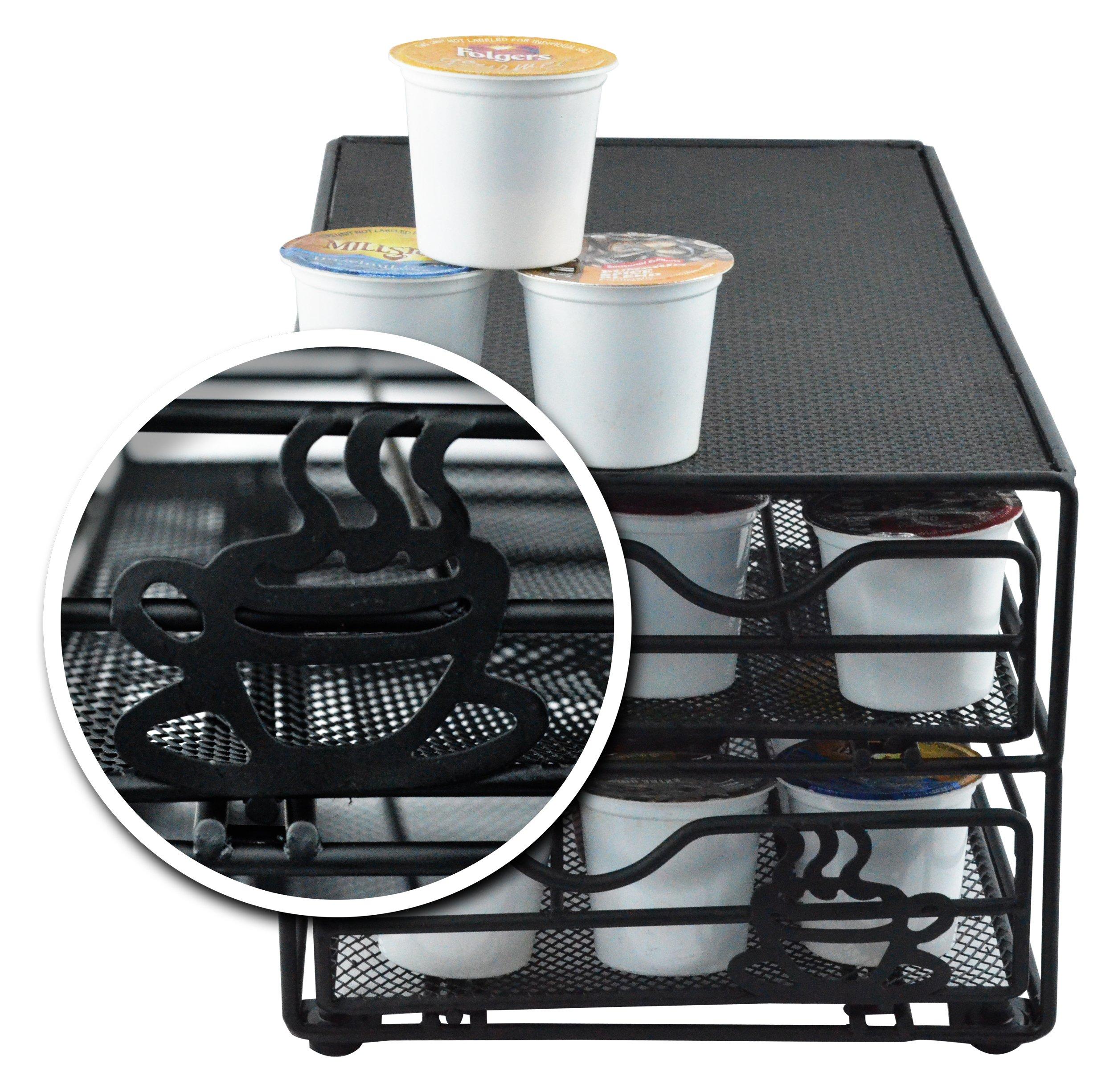 Southern Homewares 36 Pod 2-Tier Storage Drawer Fits Keurig K-Cups.