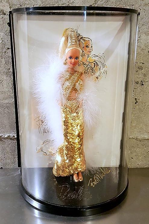 Amazon Com Bob Mackie Gold Barbie Doll W Case 1990 Toys Games