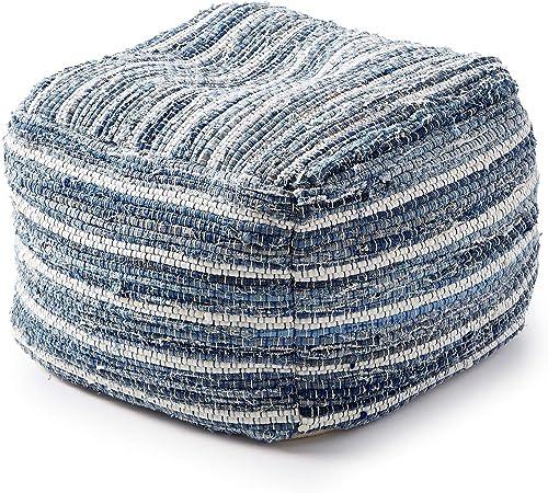 Amazon Com Lucky Brand Home Decorative Pillow Chindi Pouf Furniture Decor