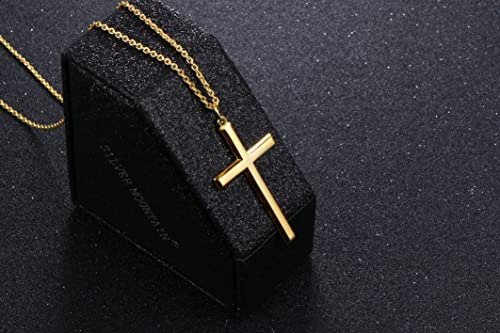 Gold Cross Pendant Necklaces for Men