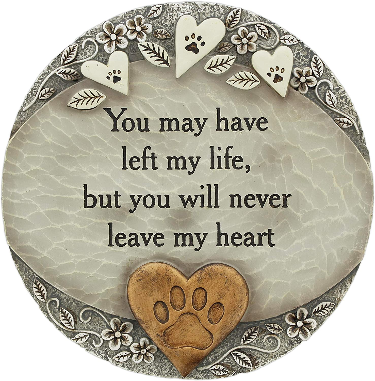 The Bridge Collection Decorative Resin Garden Stone (You Will Never Leave My Heart Pet)