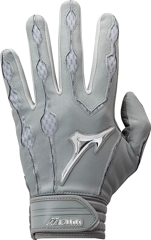 Mizuno Youth Covertバッティング手袋 B01JFZTXN0 XL|グレー グレー XL