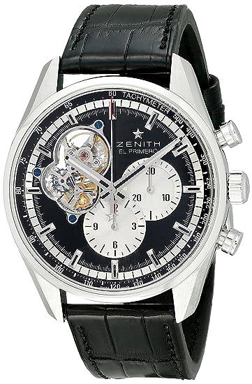 Zenith 0320424061.21C - Reloj de pulsera hombre, color Negro: Amazon.es: Relojes