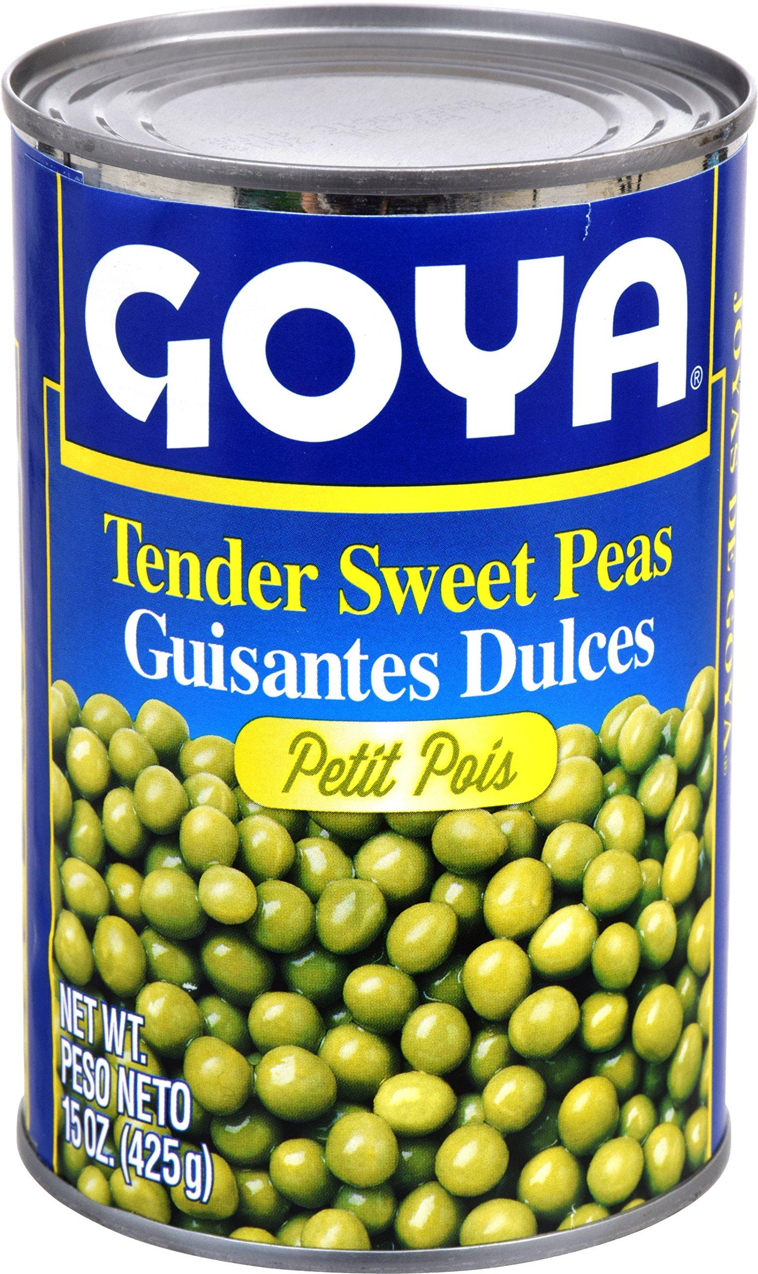 Goya Foods Tender Sweet Peas, 15-Ounce (Pack of 24)