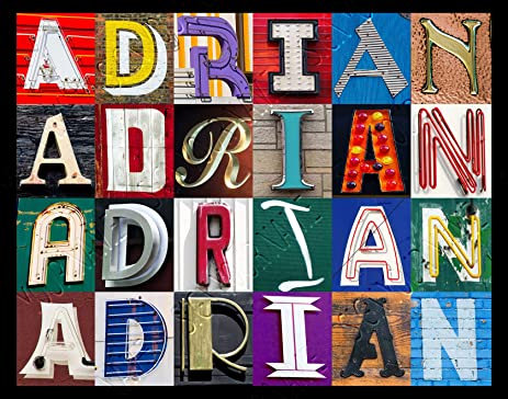 ADRIAN Personalized Name Poster Using Sign Letters