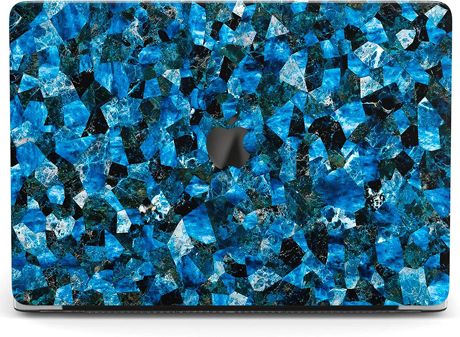 Wonder Wild Case for MacBook Air 13 inch Pro 15 2019 2018 Retina 12 11 Apple Hard Mac Protective Cover Touch Bar 2017 2016 2020 Plastic Laptop Print Blue Crystal Amethyst Mineral Geological Quartz