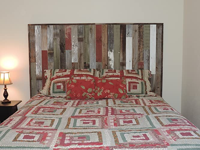 Rustic Full Bed Panel Headboard (61.5u0026quot; X 37.5u0026quot;) Made Of Reclaimed,