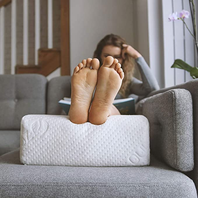 ZOFINO ASTAT Almohada en Forma de cuña para piernas, Almohada reposapiernas, Almohada para piernas cansadas, Almohada anatómica para Las piernas, ...