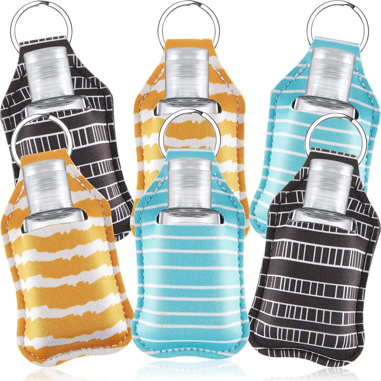 Bleu porte-cl/és pour huiles essentielles avec 6 bouteilles de bouteilles Ensemble de sac de rangement de 6 pi/èces