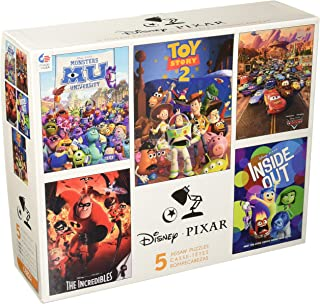 product image for Ceaco Disney Pixar 5-in-1 Multipack Puzzles Includes (2) 300 Piece, (2) 550 Piece, (1) 750 Piece Puzzle