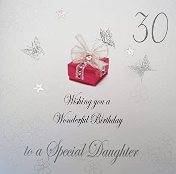 White Cotton Cards Bdp30 D 30 Wishing You A Wonderful Birthday To A