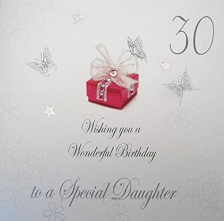 White Cotton Cards bdp30-D - Tarjeta por 30 cumpleaños de ...