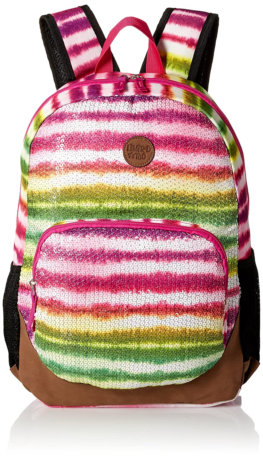 Limited Too Big Girls Rainbow Tie Dye with Sequins Backpack, Multi, One Size best