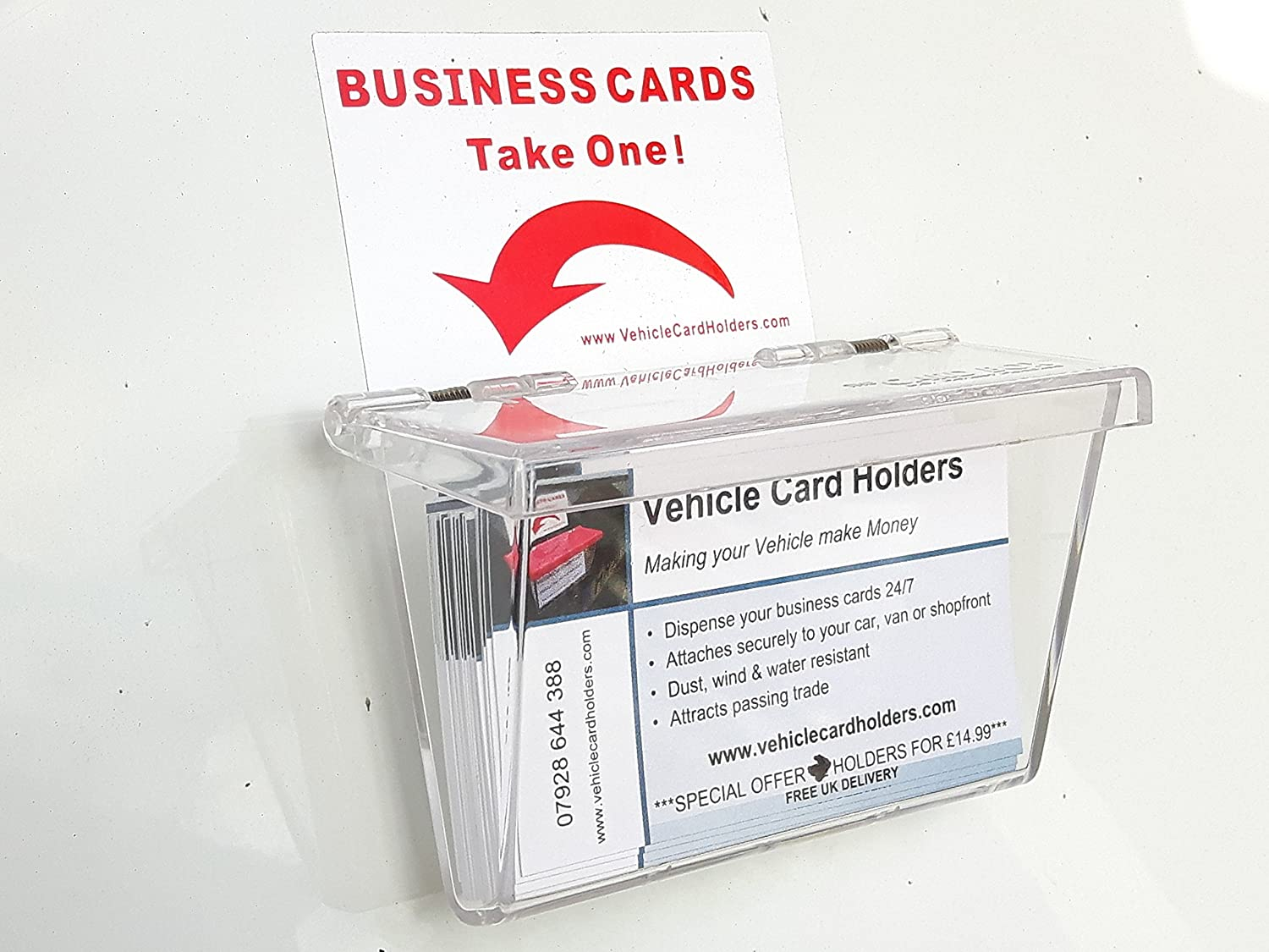 Outdoor Vehicle Business Card Holder Box: Amazon.co.uk: Clothing