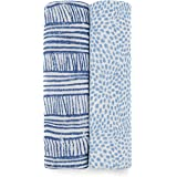 aden + anais Swaddle Blanket, Boutique Muslin Blankets for Girls & Boys, Baby Receiving Swaddles, Ideal Newborn & Infant Swad
