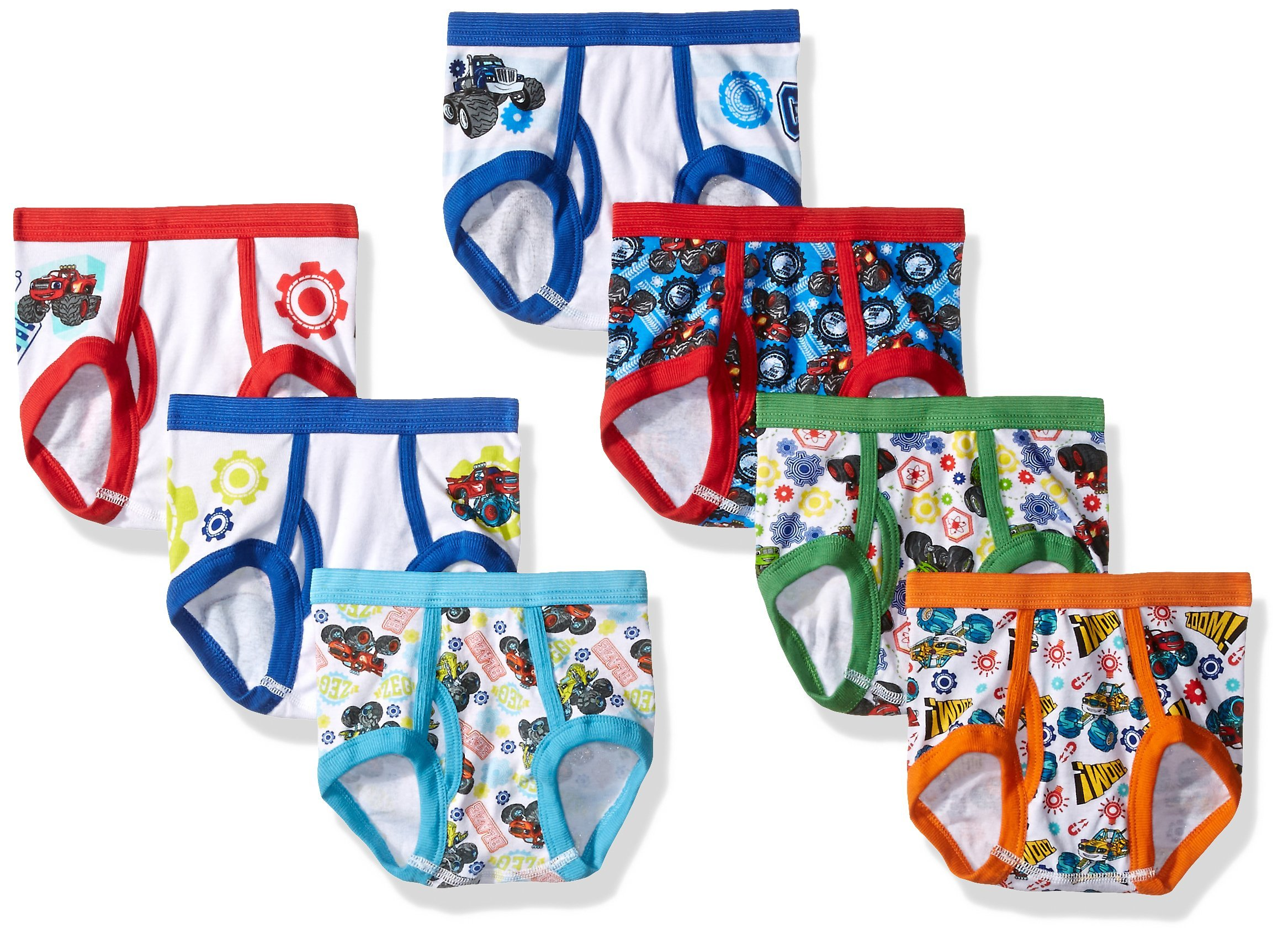 Nickelodeon Boys' Toddler 7pk Underwear, Assorted, 4T