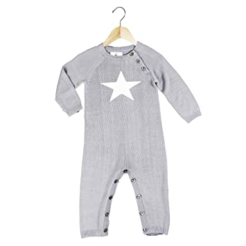 60642f5f2b23 Amazon.com  Earth Baby Outfitters Bamboo Star Kint Romper 6-12 ...