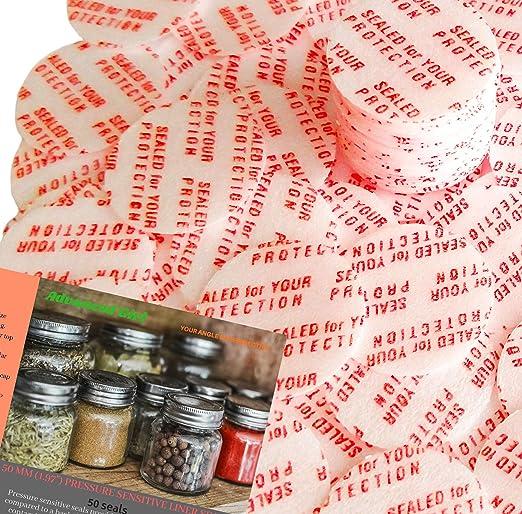 NEW 18 mm 50 Pack Bottle Jar Pressure Foam Safety Tamper Resistant Seals