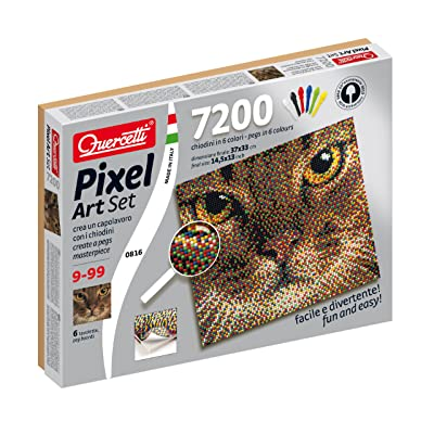 Quercetti Cat Pixel Art Set: Toys & Games