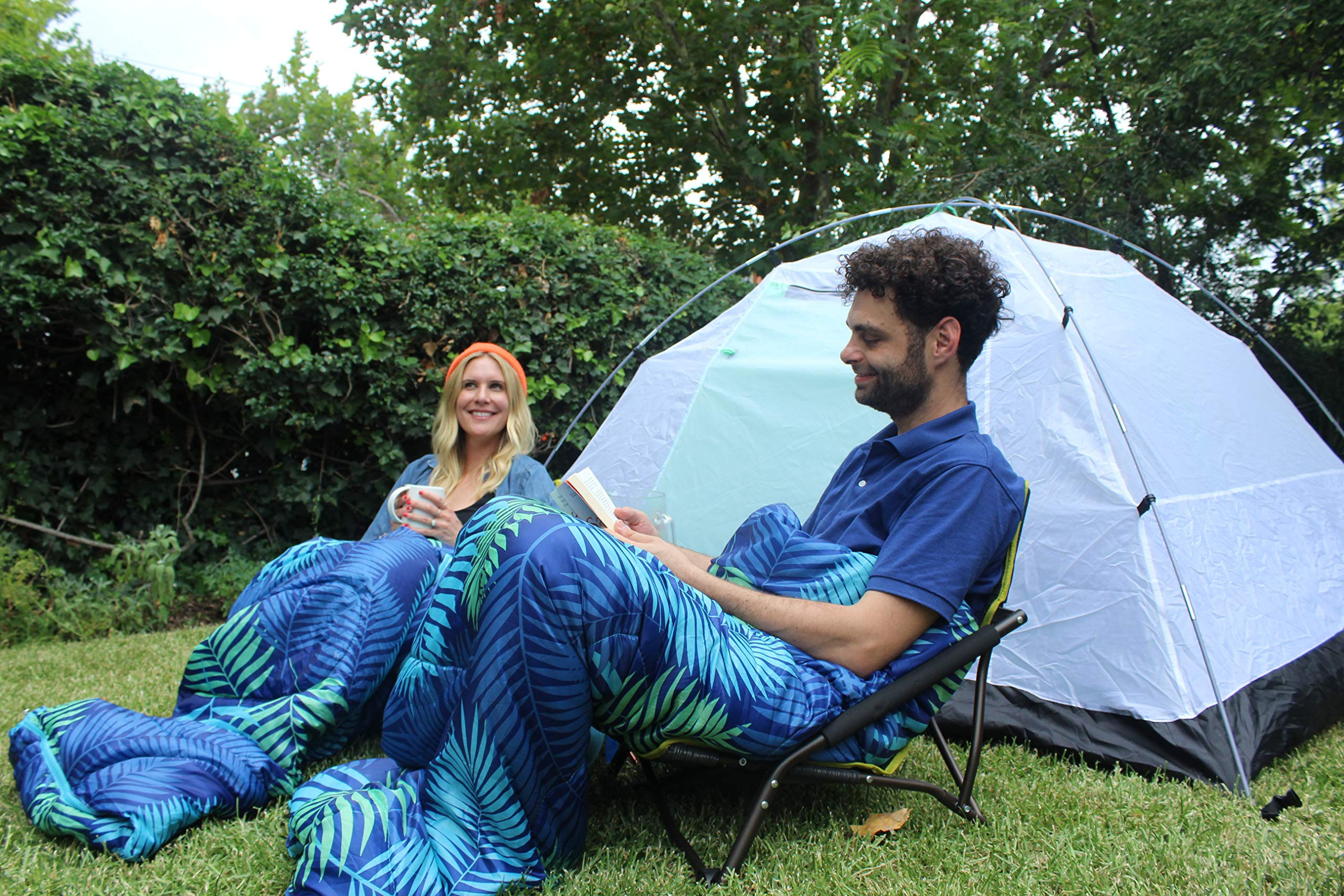 Chillbo Double Sleeping Bag for Adults Queen Sleeping Bag for Backpacking, Camping, Hiking & Music Festivals Cool Patterns Queen Size XL 2 Person Sleeping Bags for Adults 9