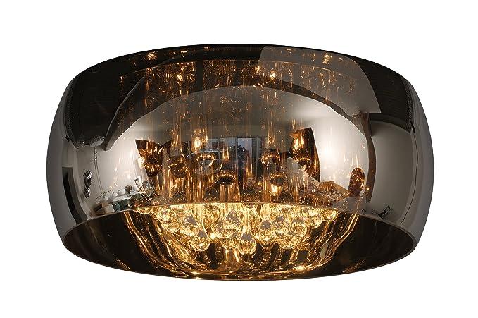 Lucide 70163/40/11 Pearl - Lámpara de techo (cristal, 40 x 40 x 22 cm)