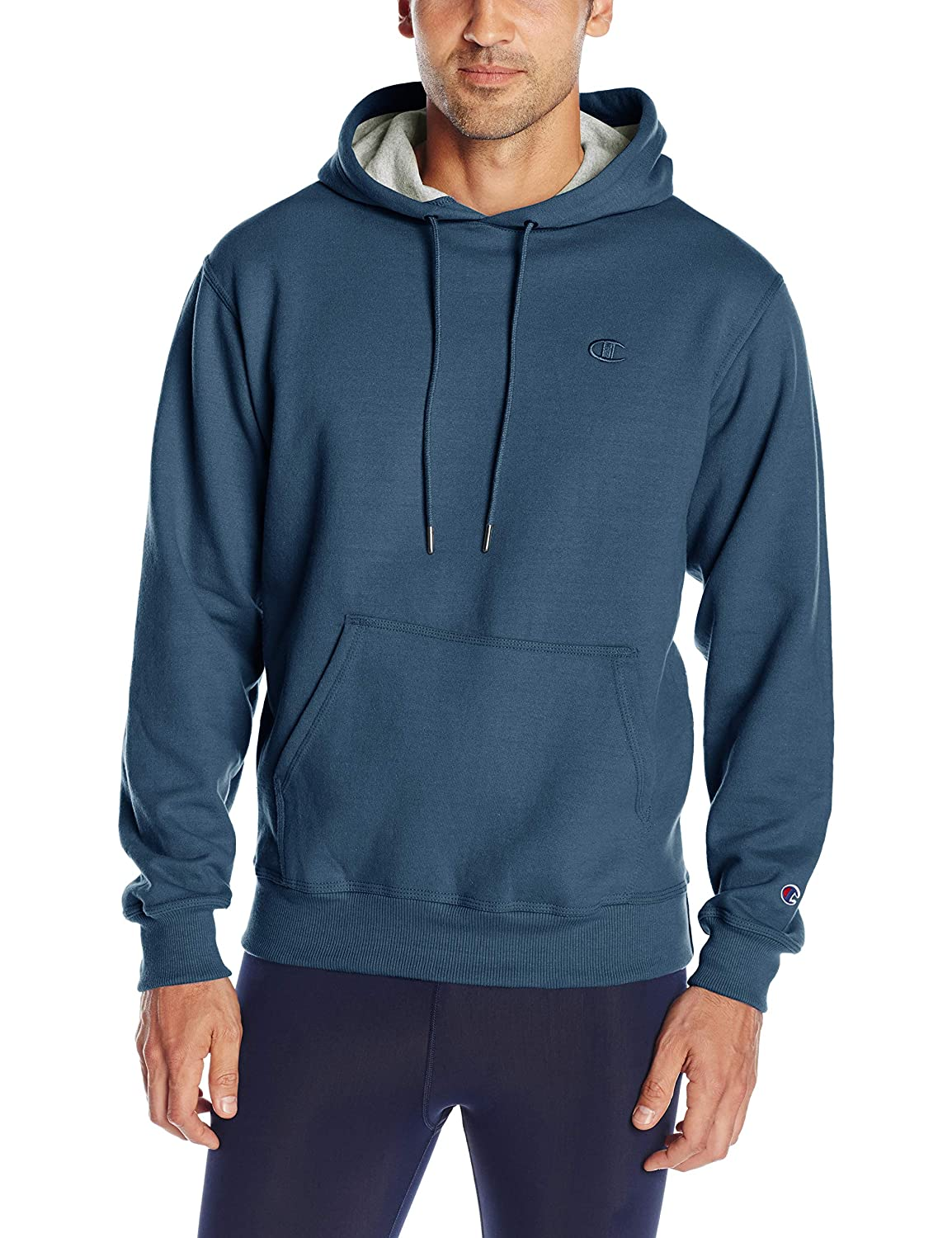 Champion Men's Powerblend Fleece Pullover Hoodie Champion Men' s Athletic S0889