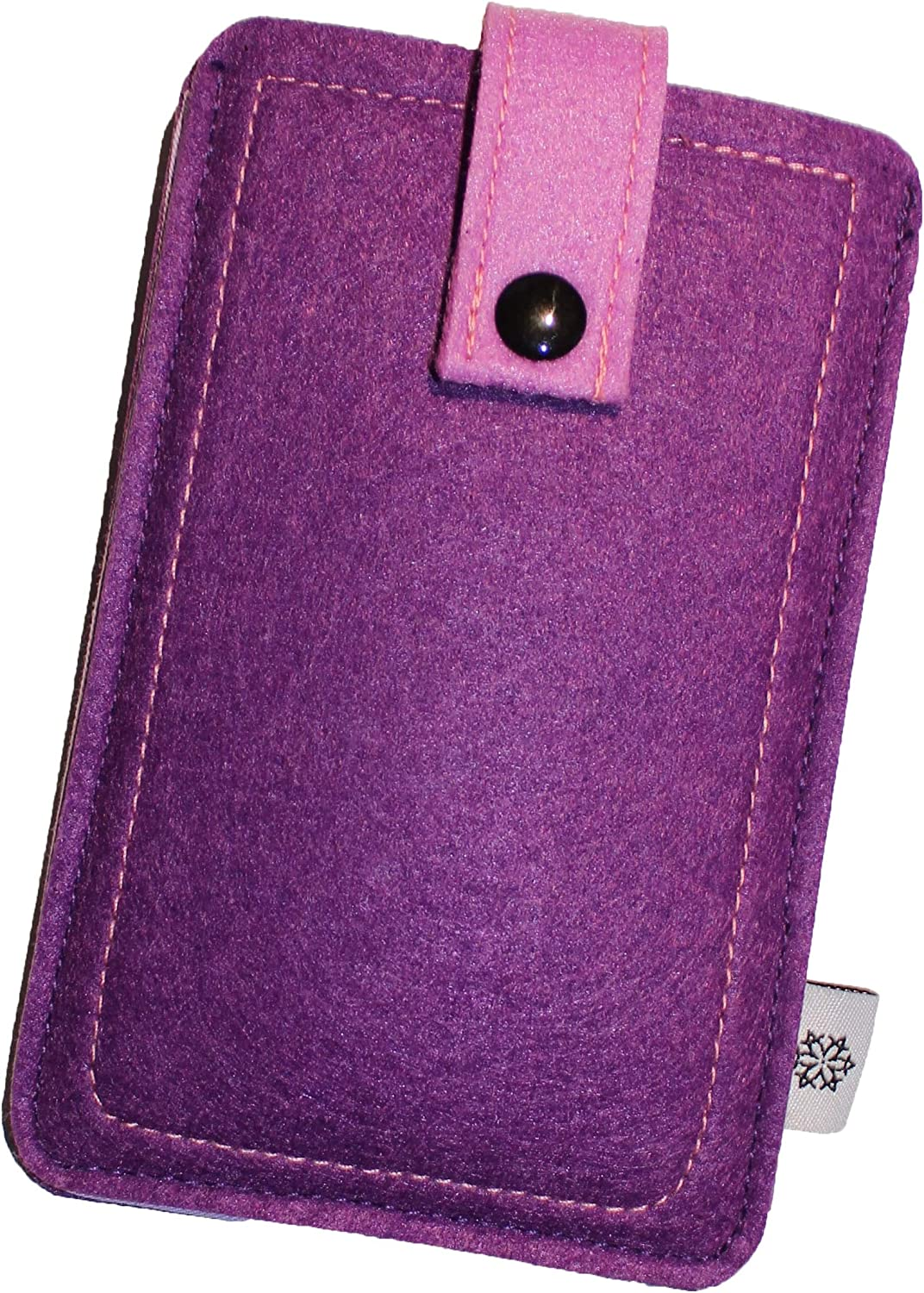 Dealbude24 Felt Protective Case for Apple iPhone Pull Out Case Very Tear-Resistant Mobile Phone Case with Pull-Out Tab and Press Button Protective Case in Beautiful Colours