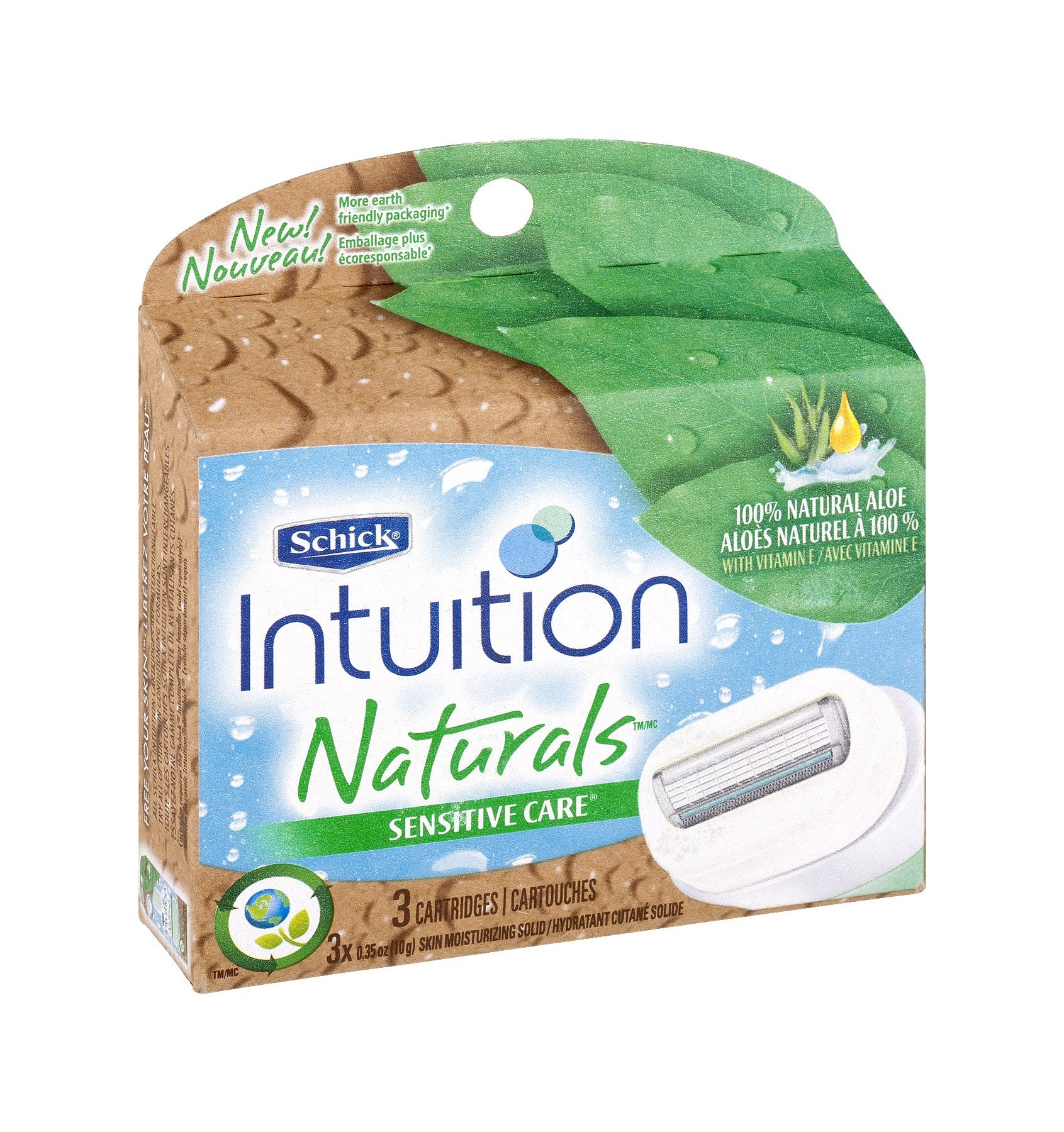 Schick Intuition Naturals Sensitive Care 100% Aloe w/ Vitamin E Cartridges